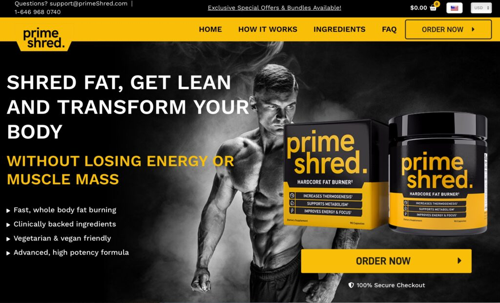 prime shred website
